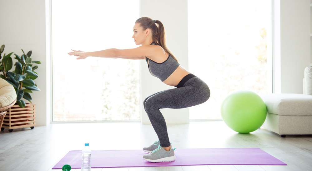 10-minute workout - Squats